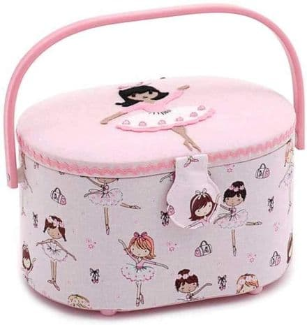 Hobby Gift 'Ballerina' Novelty Applique Sewing Box 10 x 23 x 18cm (d/w/h)