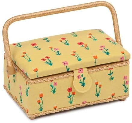 Hobby Gift Classic Small Rectangular Sewing Box Meadow