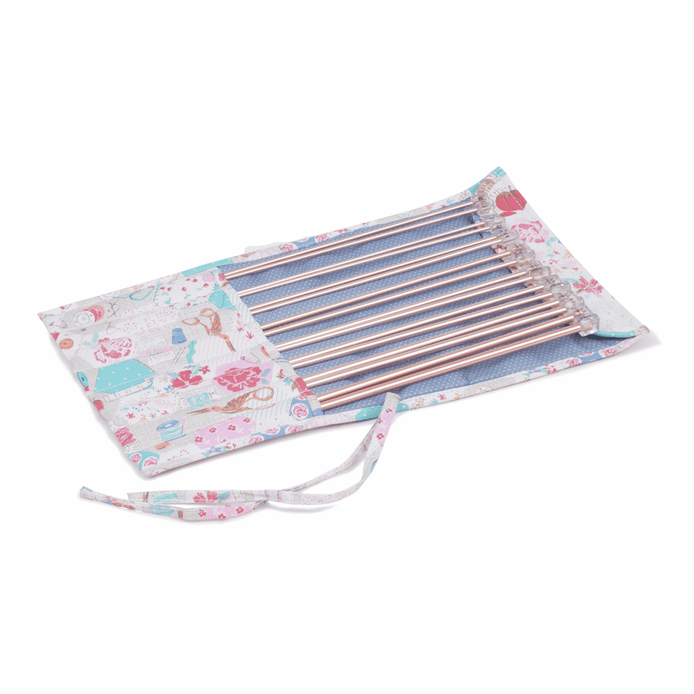 Hobby Gift Knitting Pin Roll Notions Print 9 paires