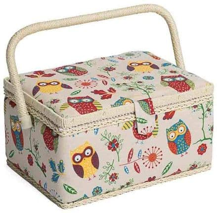 Hobbygift, Owl design sewing box on a natural background,MRM\29