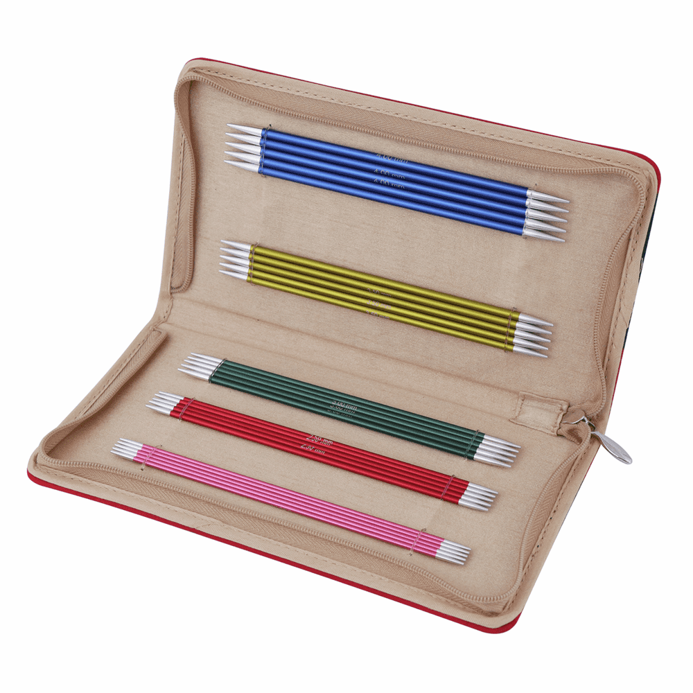 KnitPro Zing Knitting Pins Double-Ended Set of Five Set: 15cm