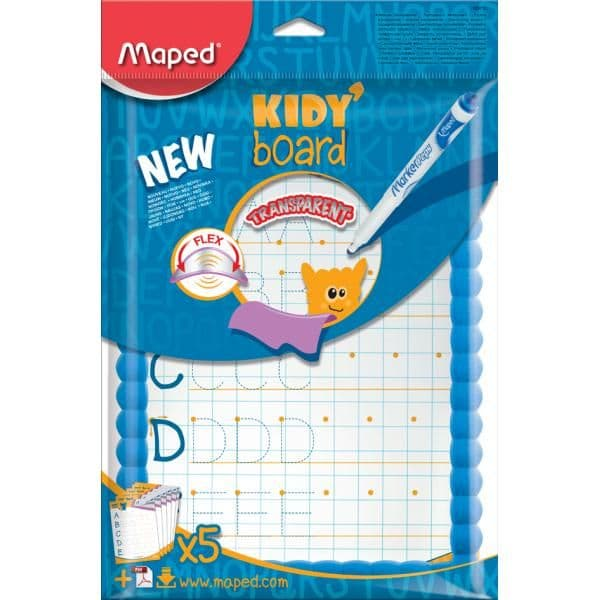 Maped A4 Blue Framed Drywipe Drawing & Writing Kidy Board & Marker