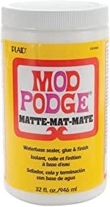 Mod Podge 32 oz Matte Waterbase Sealer, Glue and Finish, Clear