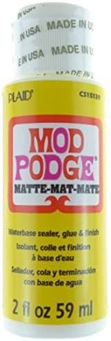 Mod Podge Matte Water Base Sealer/Glue And Finish, White, 2 oz
