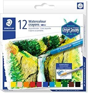 STAEDTLER 223 C12 Watercolour Karat Aquarell Crayons - Multi-Colour (Pack of 12)