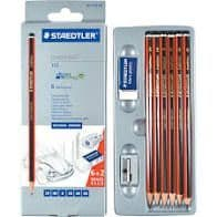 Staedtler 61 110C6 Tradition Sketching Pencil with Mars Plastic Eraser/Metal Sharpener (Pack of 6)
