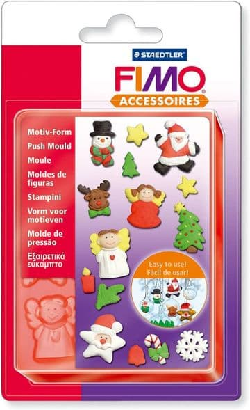 Staedtler Fimo Accessories Puch Mould Very Flexible,Easy demoulding