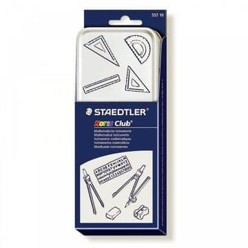 STAEDTLER Noris Club Mathematical Instruments Maths Set Geometry Ruler Squares Protractor Compass St