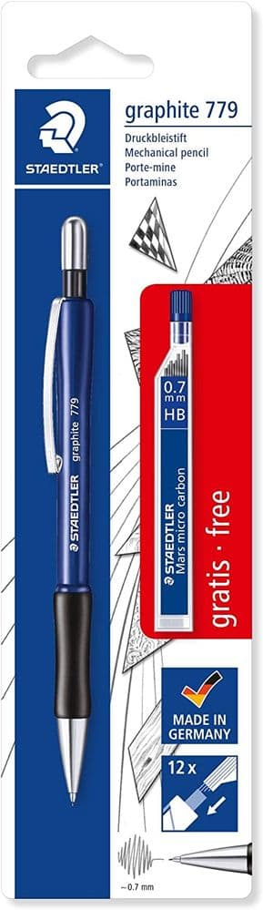 Staedtler Staedtler 7797ABK25D Mechanical Pencil Graphite and 1 x Pack Box (HB) Free Refill Diameter