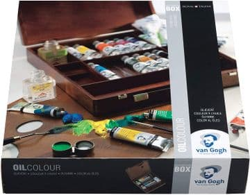 Van Gogh Oil Colour Wooden Box Set Inspiration with 14 Colours in 40ml Tube + Accessories 02840100