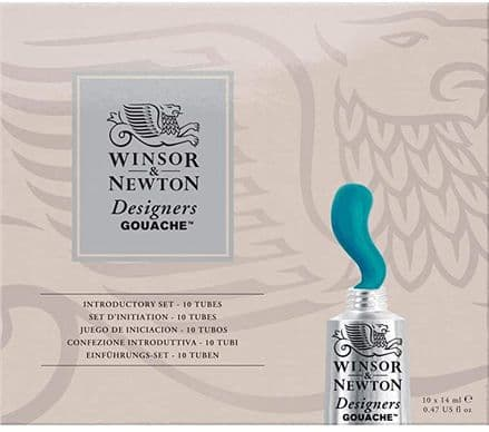 Winsor and Newton Designers Gouache Introductory Paint Set 10x14ml