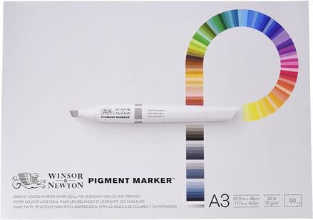 Winsor & Newton A3 Pigment Marker Paper (Pack of 50 Sheets)