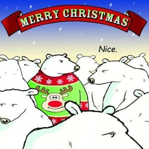 CAN2  Christmas Jumper Funny Christmas Card