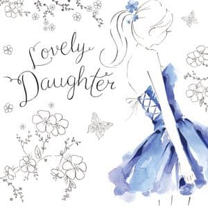 NES25  Lovely Daughter Birthday Card