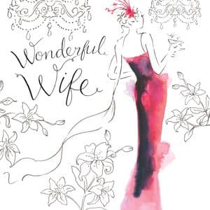 NES27  Wonderful Wife Birthday Card