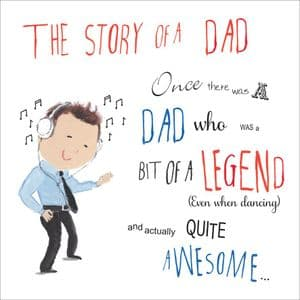 OTW8  Card For Fathers Day Awesome Dad