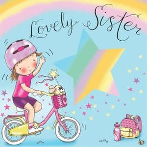 TW643 - Sister Birthday Card Bicycle