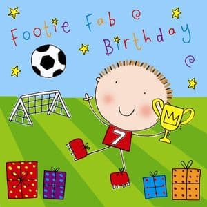 Boys Footaball Birthday Card