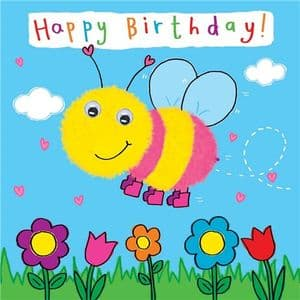Childrens Birthday Card - Bee