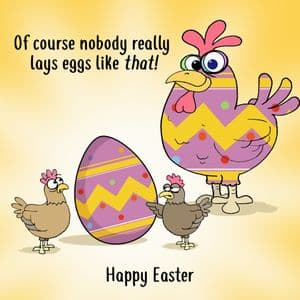CS12  Humorous Easter Card Egg Confusion