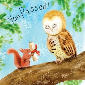FIZ46 You Passed Your Exams Congratulations Card