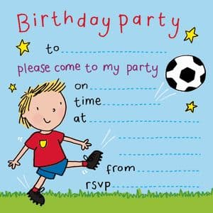 Footballing Children's Party Invitation