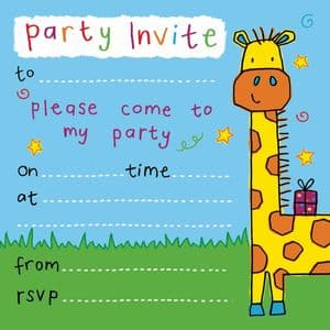 Giraffe Children's Party Invitation