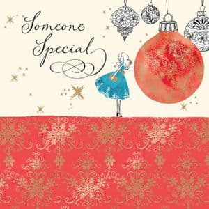 Someone Special Christmas Card with Gold Foiling, Contemporary Design and Red Envelope KIS27