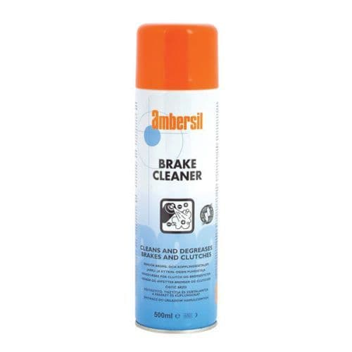 Ambersil 500ml Brake and Clutch Cleaner Aerosol Spray Removes Dust, Oil & Grease