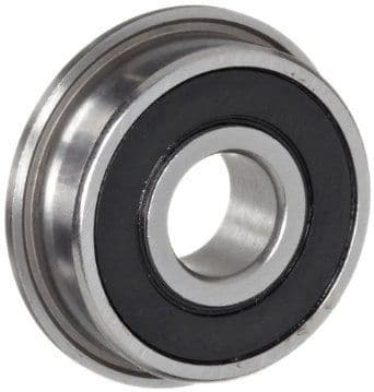 F4 2RS Rubber Sealed Flanged Imperial Miniature Bearing 1/4 X 5/8 X 0.196 inch