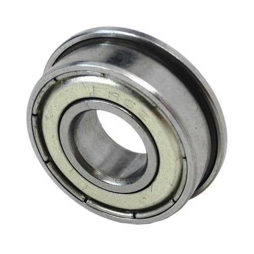 F609 ZZ Metal Shielded Flanged Miniature Bearing 9mm X 24mm X 7mm
