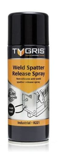 Tygris 400ml Anti-Weld Spatter (Solvent Based) Prevents Adhesion Aerosol Spray Lubricant (R221)