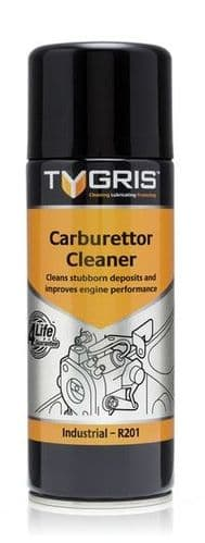 Tygris 400ml Carburettor Cleaner Removes Combustion Deposits Cleans Chokes Aerosol Spray (R201)