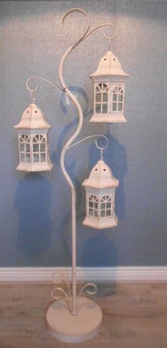 Distressed Cream Lantern Tree