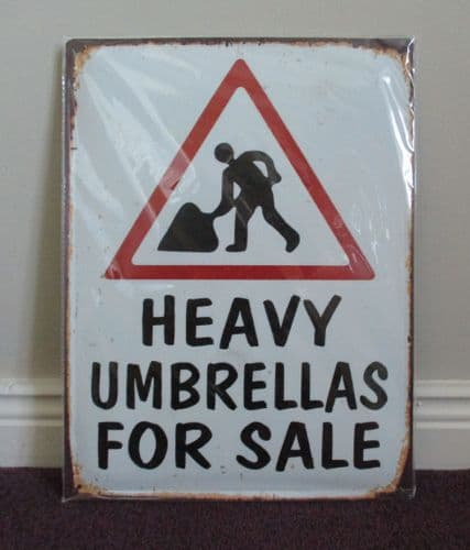 Heavy Umbrellas For Sale Novelty Sign