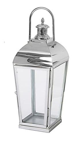 Polished Stainless Steel Taper Lantern Small