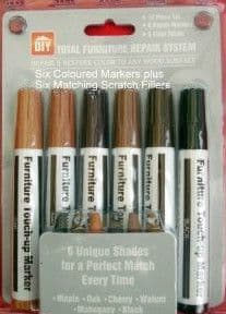 PIANO SCRATCH AND CHIP COLOUR REPAIR SYSTEM, 12 PIECE KIT. UK SELLER