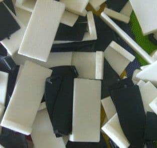 VIOLIN BOW TIP, TWO PART SET, WHITE BONE AND BLACK ABS, UK SELLER, FAST DESPATCH