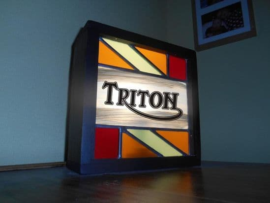 Classic Bike Stained Glass Light Boxes