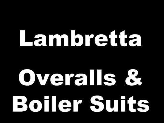 Lambretta Classic Scooter Overalls and Boiler Suits