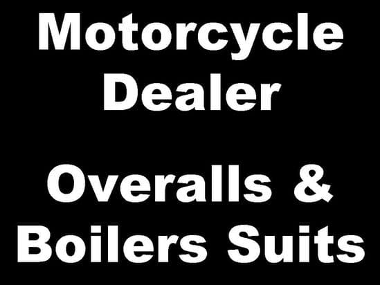 Motorcycle Dealer Overalls and Boiler Suits