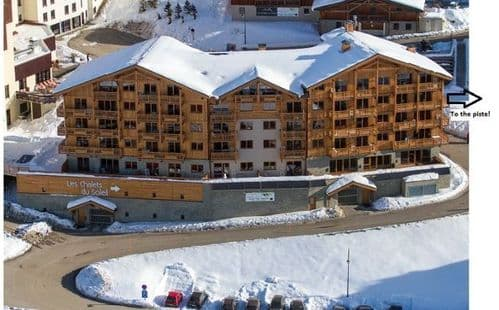 Les Menuires Style Apartment, 4 bedrooms for 8/10, w/c 27/2/21 with insurance