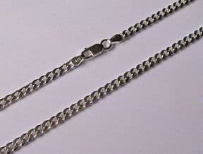"""22"""" 56cm 3.5mm thick Sterling Silver curb Chain 13g"""