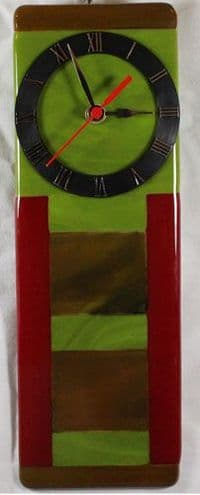 10 x 30cm green, woodland and red