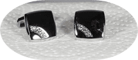 Silver colour cufflinks with cz stones
