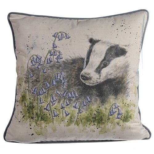 'A Country Gent' Badger Cushion