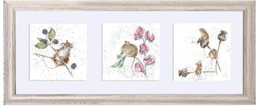 'A Trio of Country Mice' Framed - FT012