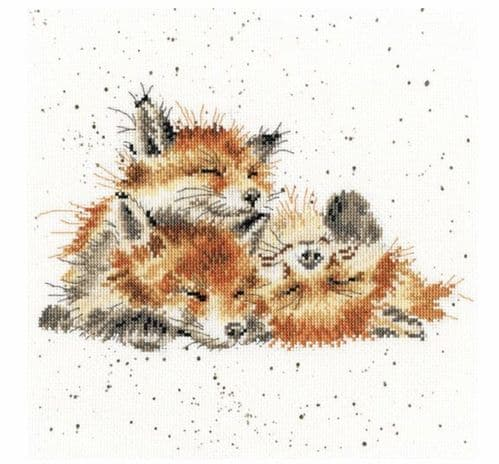 'Afternoon Nap' Foxes Cross Stitch Kit - XHD45