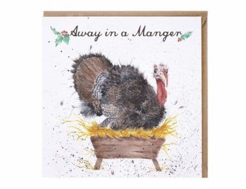 'Away in a Manger' Christmas Card