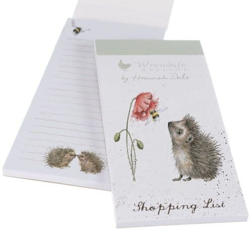 'Busy as a Bee' Hedgehog Magnetic Shopping Pad SP032